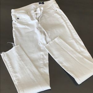 AG denim white jeans, Legging Ankle size 24R